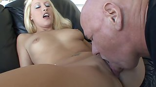 .Very Young Teen Gets Will not hear of Barley Legal Pussy Fucked By Oldman-