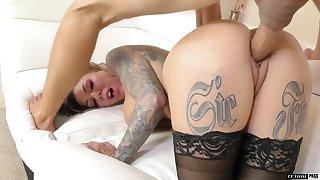 Rimjob expert Karma Rx gives a blowjob plus gets her blast c enlarge slammed plus creampied