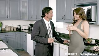 Sexy instructress Adria Rae does everything her sugar daddy desires